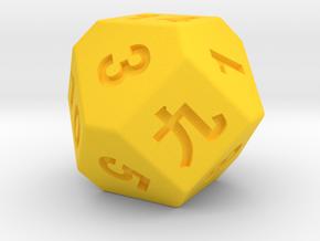 14 faces dice in Yellow Processed Versatile Plastic