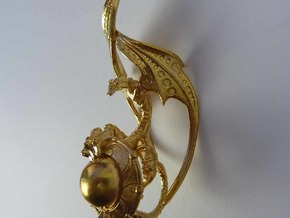 LUX DRACONIS right earring  in Natural Brass