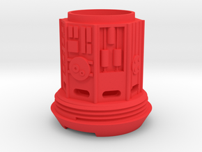 KRCNC2 Lightsaber cap in Red Processed Versatile Plastic