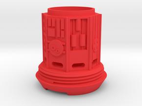 KRCNC2 Lightsaber cap in Red Processed Versatile Plastic