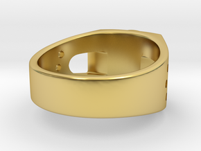Bitcoin Ring in Polished Brass: 7 / 54