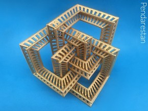 Borrocube in Polished Gold Steel: Small