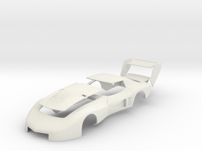 John Greenwood 1977 IMSA GTO Corvette (Body) in White Natural Versatile Plastic: 1:25