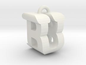3D-Initial-BU in White Natural Versatile Plastic