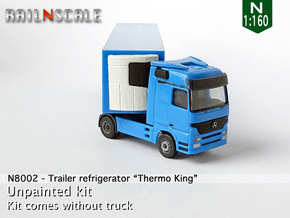 """Trailer refrigerator """"Thermo King"""" (N 1:160) in Smooth Fine Detail Plastic"""