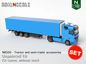 SET Tractor and semi-trailer accessories (N 1:160) in Smoothest Fine Detail Plastic