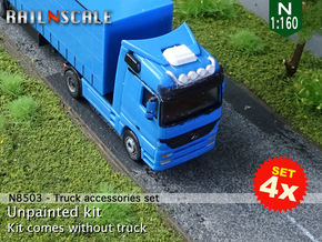 SET 4x Truck accessories (N 1:160) in Smoothest Fine Detail Plastic