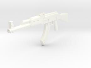 1/10 scale AK-47 in White Processed Versatile Plastic