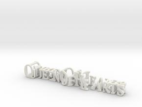 3dWordFlip: QueenOfHearts/ThreeOfClubs in White Natural Versatile Plastic