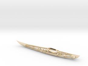 Kayak Skeleton in 14K Yellow Gold