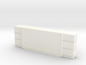 Hollow SNES classic mini cartridge in White Processed Versatile Plastic
