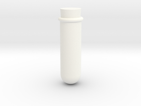 Test Tube Game Piece in White Processed Versatile Plastic
