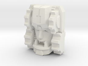 Fembot HeadGear Face (Titans Return) in White Natural Versatile Plastic