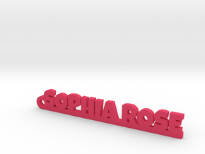 SOPHIA ROSE_keychain_Lucky in Pink Processed Versatile Plastic
