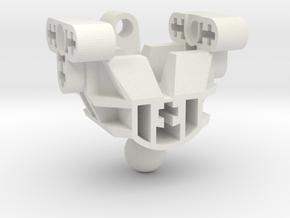Bionicle Articulate Mata Torso (Upper) in White Premium Strong & Flexible