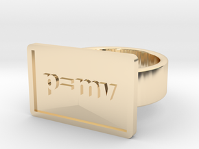 Momentum Ring in 14k Gold Plated Brass: 8 / 56.75