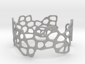 Cells Bracelet (open, 64mm) in Aluminum