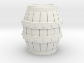 1/35 Wine Barrel for Diorama in White Natural Versatile Plastic