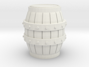 1/48 Wine Barrel in White Natural Versatile Plastic