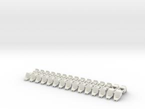 Tatra T3/T4/K2/T2R Plastic seats - single 0 [30x] in White Natural Versatile Plastic