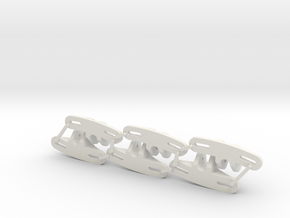 Panhard Chassis Mount - Flat (Qty 6) in White Premium Strong & Flexible