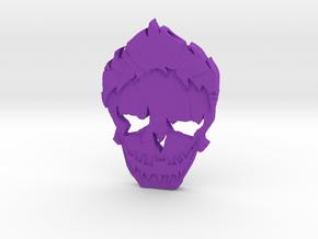 Joker - Squad Skull in Purple Processed Versatile Plastic
