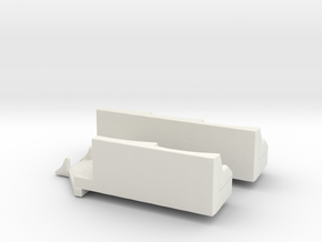 Downdraft Tub  in White Natural Versatile Plastic
