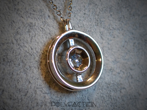 Origin ::: Circle Pendant ::: v.01 in Rhodium Plated Brass