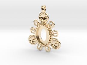 "Pendant ""Ursula"" in 14K Yellow Gold: Small"