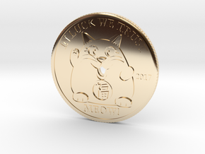 Lucky Cat Coin in 14K Yellow Gold