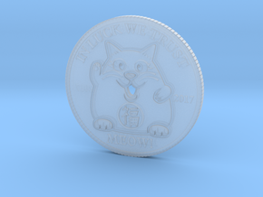 Lucky Cat Coin in Smooth Fine Detail Plastic