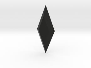 Rhombus Ring (GEM ONLY) in Black Natural Versatile Plastic