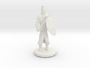 Templar Knight in White Natural Versatile Plastic