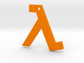 Half Life pendant in Orange Processed Versatile Plastic