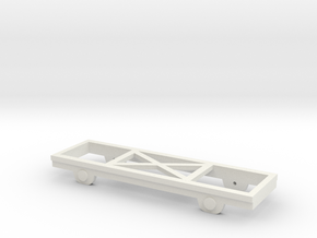 OO9 Wagon Chassis in White Natural Versatile Plastic