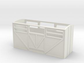 OO9 Cattle Van in White Natural Versatile Plastic