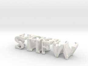 3dWordFlip: STIFW/FXCK YOU  in White Natural Versatile Plastic