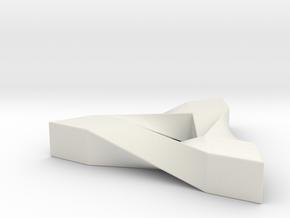 Penrose Triangle in White Premium Versatile Plastic