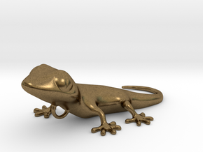 GECKO Pendant, 4cm length in Natural Bronze