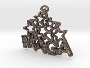 MAGA & Stars Pendant in Stainless Steel