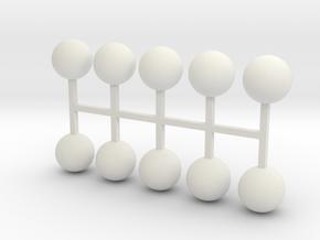 Parkhecke Buchsbaum Kugel 10er Set - 1:120 in White Natural Versatile Plastic