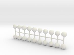Parkhecke Buchsbaum Kugel 20er Set - 1:120 in White Natural Versatile Plastic
