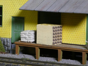 Pear Shipping Boxes HO Scale in Smooth Fine Detail Plastic