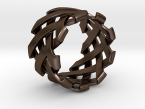 Braid Ring size 20mm in Polished Bronze Steel