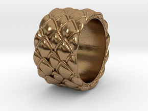 Dragon Scales 18.6 mm in Natural Brass
