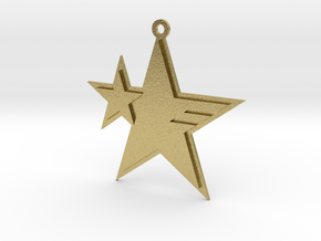 Sonic Forces - Resistance Star Keychain in Natural Brass