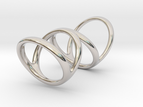 Ring for Bob L1 7-8 L2 1 3-8 D1 6 1-4 D2 6 3-4 D3  in Rhodium Plated Brass