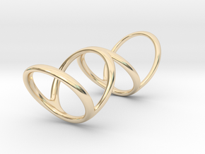 Ring for Bob L1 1 1-4 L2 1 3-4 D1 8 D2 9 3-4 D3 10 in 14k Gold Plated Brass