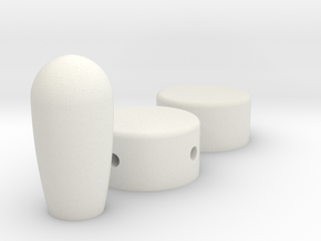 Headset Movie Accurate in White Natural Versatile Plastic