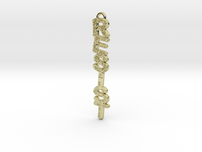 RESIST Vertical Pendant in 18k Gold Plated Brass
